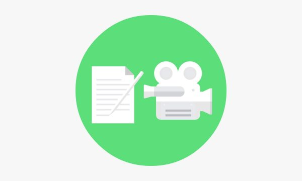 green-video-production-camera-and-script-icon