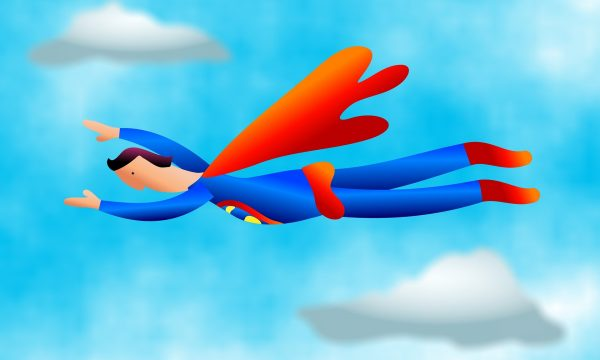 cartoon-man-with-cape-flying-in-air