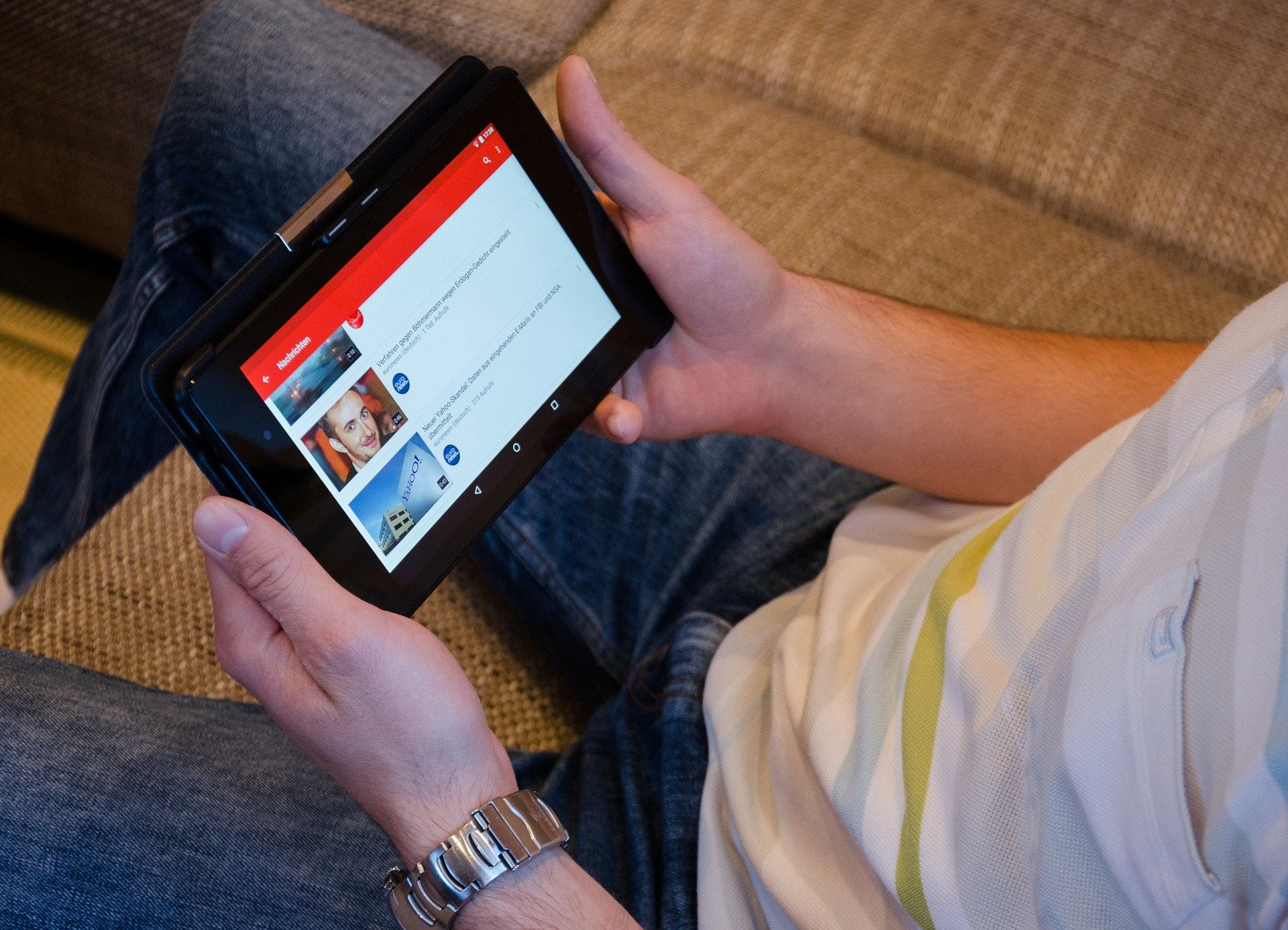 watching-youtube-on-a-tablet