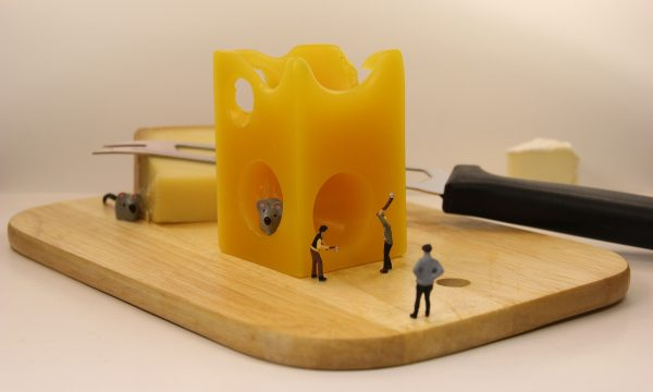 miniature-figures-building-cheese-for-mice